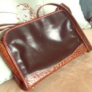 Vintage Brahmin should strap, black, brown leather